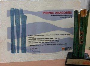 Premio aragonés a la responsabilidad social de la empresa